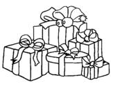 Dibujo de Muchos regalos 2 para colorear