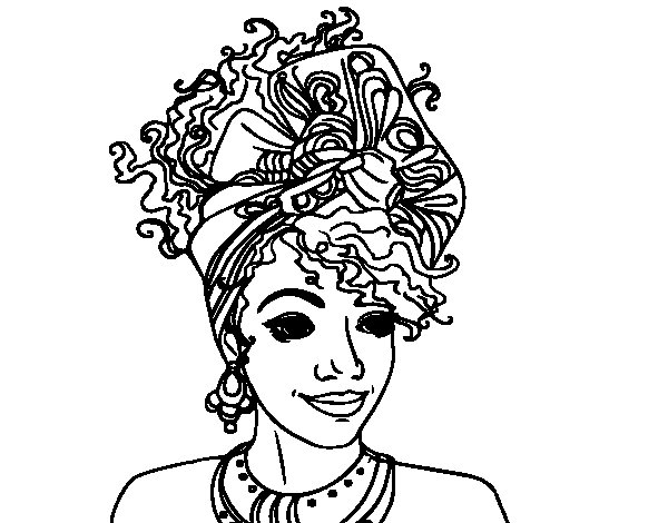 Dibujos De La Mujer Maravilla Para Colorear E Imprimir: Dibujo De Mujer Africana Para Colorear
