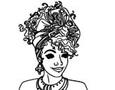 Dibujo de Mujer africana