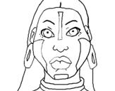Dibujo de Mujer maya para colorear