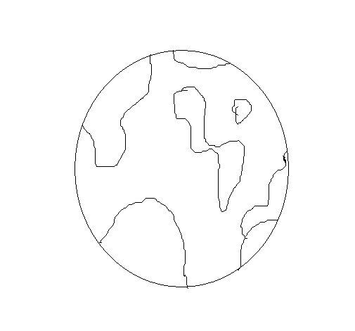 Dibujo de Mundo para Colorear