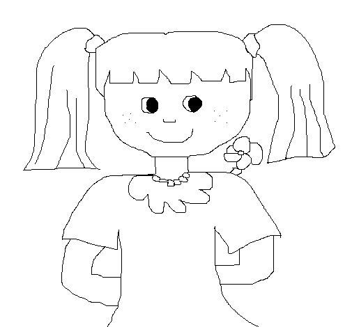 Dibujo de Muñeca 2 para Colorear