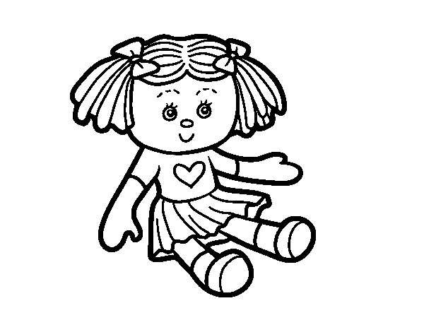 Dibujo de Mueca de juguete para Colorear  Dibujosnet