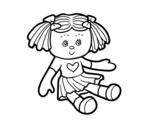 Dibujo de Muñeca de juguete para colorear