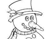 Dibujo de Muñeco con nariz de zanahoria para colorear