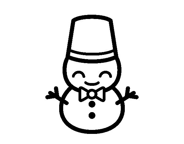 Dibujo de mu eco de nieve 5 para colorear - Munecos de nieve para dibujar ...