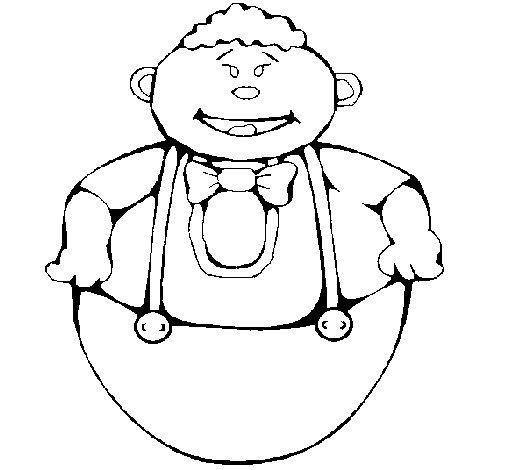 Dibujo de Muñeco huevo para Colorear