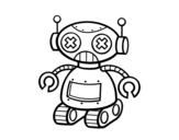 Dibujo de Muñeco robot para colorear