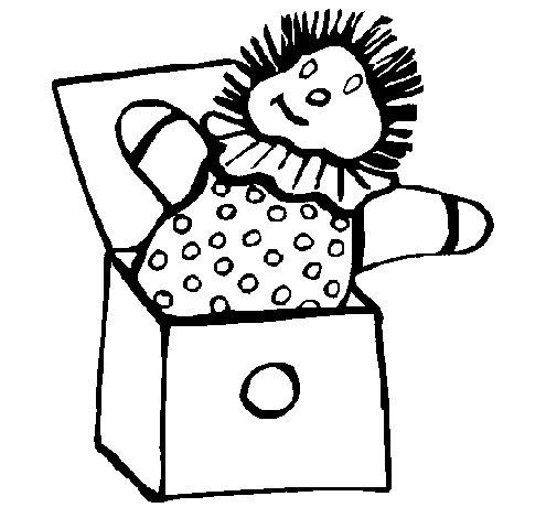 Dibujo de Muñeco sorpresa para Colorear