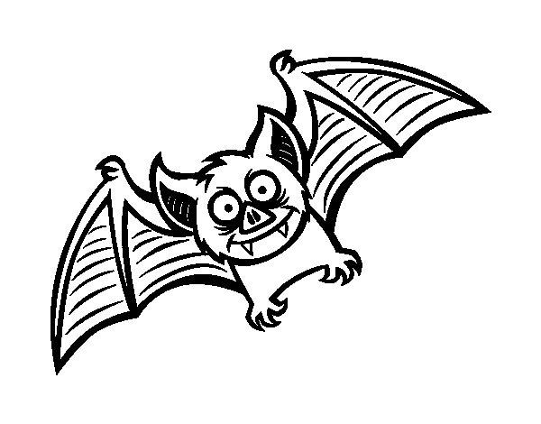 Dibujo de Murciélago simpático para Colorear