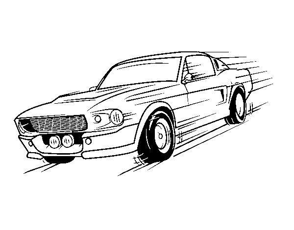 Dibujo de Mustang retro para Colorear  Dibujosnet