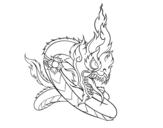 Dibujo de Naga para colorear