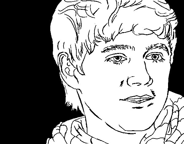 Dibujo de Naill Horan 2 para Colorear