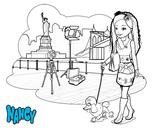 Dibujo de Nancy en Nueva York para colorear