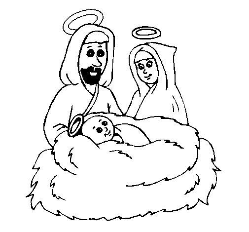 Dibujo de Natividad para Colorear