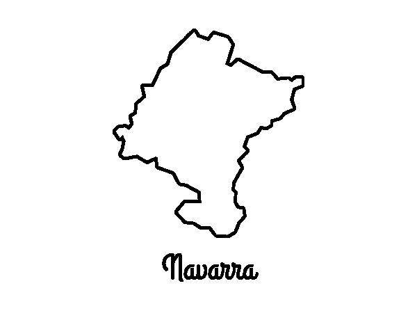 Dibujo de Navarra para Colorear