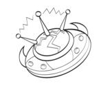 Dibujo de Nave alienígena para colorear