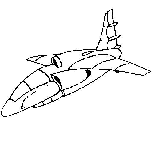 Dibujo de Nave aterrizando para Colorear