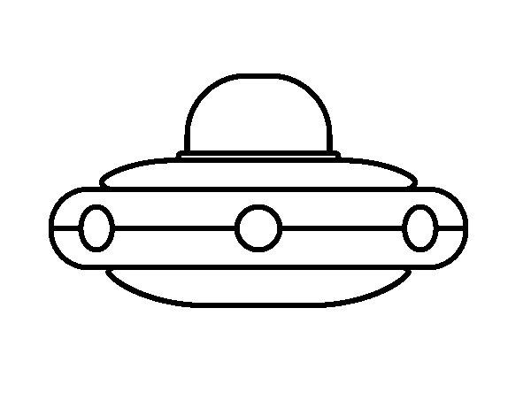 Dibujo de Nave espacial Extraterrestre para Colorear