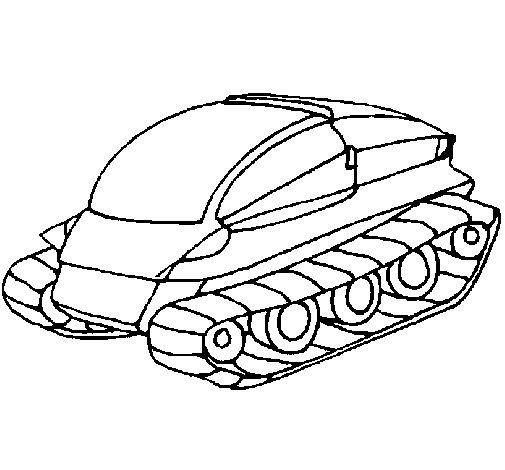 Dibujo de Nave tanque para Colorear