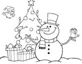 Dibujo de Navidad II para colorear