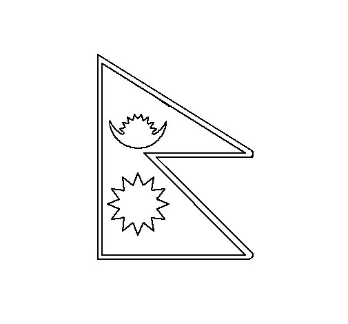 Dibujo de Nepal 1 para Colorear