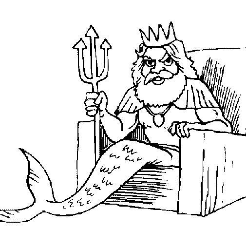 Dibujo de Neptuno para Colorear