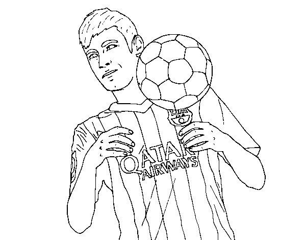 Dibujo de Neymar Barça para Colorear