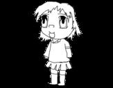 Dibujo de Niña con uniforme para colorear