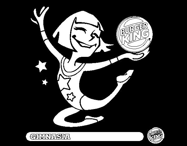 Dibujo de Niña-Gimnasia para Colorear