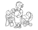 Dibujo de Niñera para colorear
