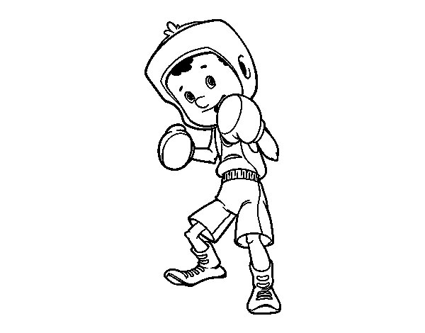 Dibujo de Niño boxeador para Colorear