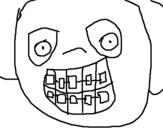 Dibujo de Niño con aparato dental 1 para colorear