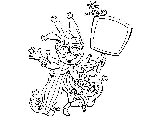 Dibujo de Nio de carnaval para Colorear  Dibujosnet