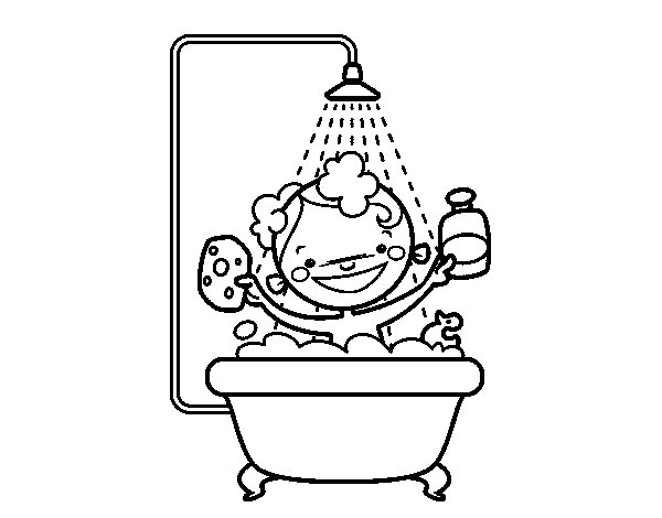 Dibujo de ni o en la ducha para colorear - Douche coloriage ...