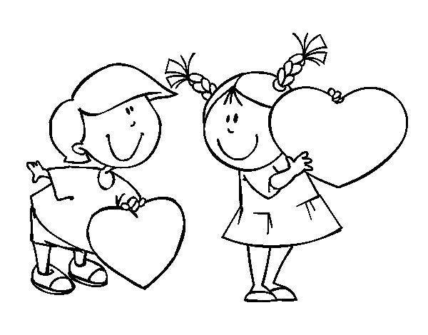 Dibujo de Niño enamorado para Colorear