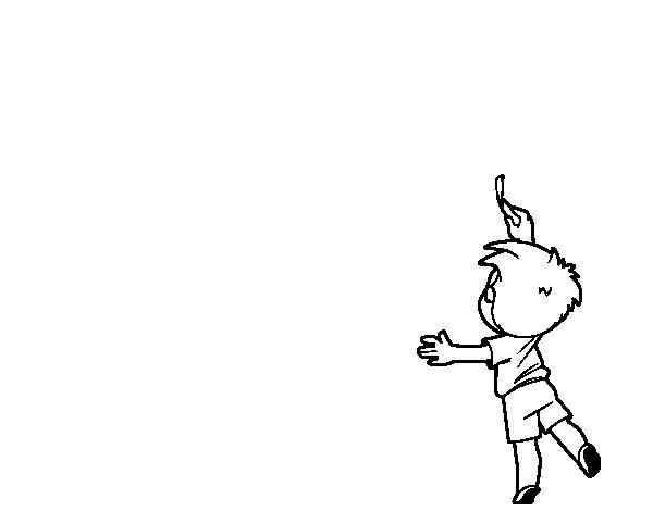 Dibujo de Niño escribiendo para Colorear