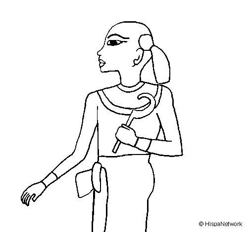 Dibujo de Niño faraón para Colorear