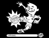 Dibujo de Niño-Fútbol para colorear