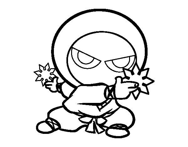 Dibujo de Niño ninja para Colorear