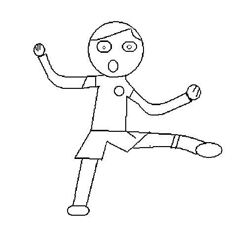 Dibujo de Nio saltando para Colorear  Dibujosnet