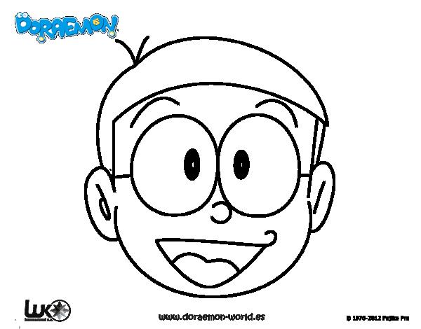 Dibujos Para Colorear E Imprimir De Doraemon: Dibujo De Nobita Para Colorear