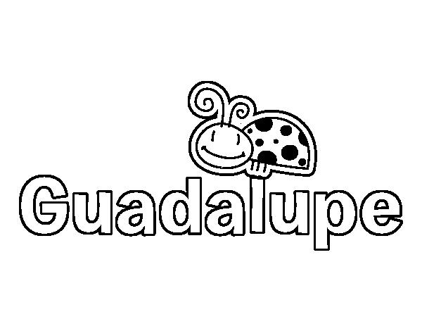 Dibujo de Nombre Guadalupe para Colorear - Dibujos.net
