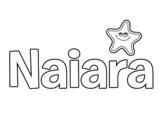 Dibujo de Nombre Naiara para colorear
