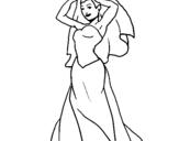 Dibujo de Novia III para colorear