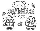 Dibujo de Noviembre para colorear