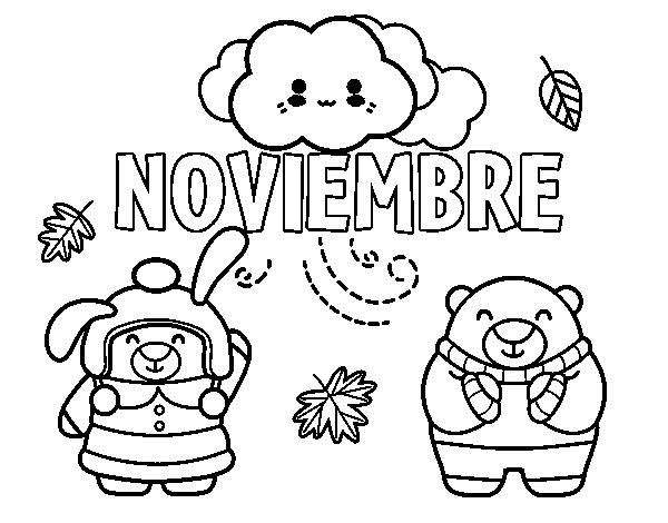 Dibujo de noviembre para colorear - Coloriage novembre ...