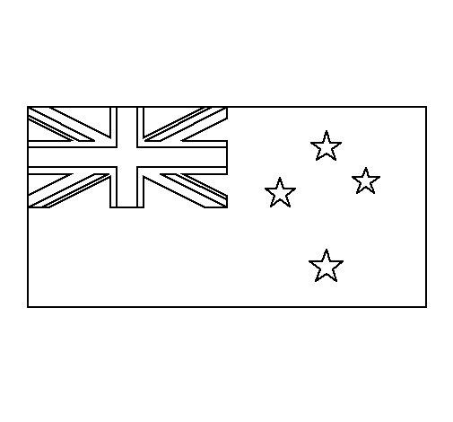 Dibujo de Nueva Zelanda para Colorear