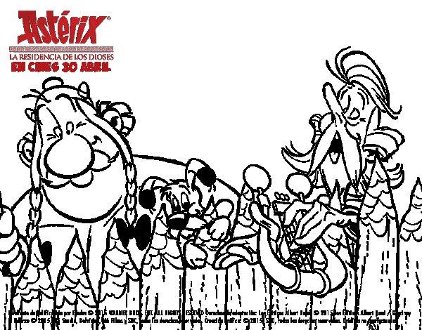Dibujo de Obélix y Asurancetúrix para Colorear