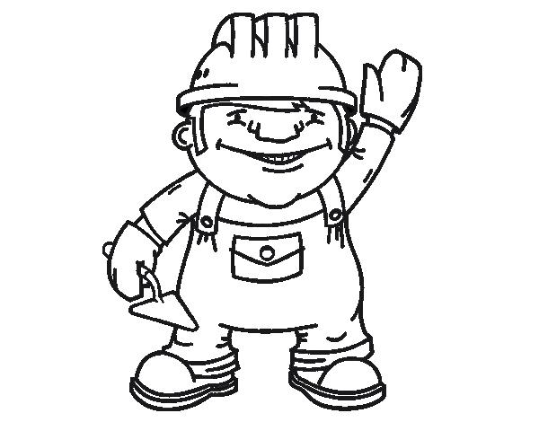 Dibujo de Obrero de la construcción para Colorear